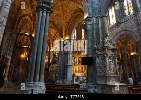 Cathedral of Christ the Saviour. Avila, Castilla-Leon, Spain, Europe. - Stock Photo