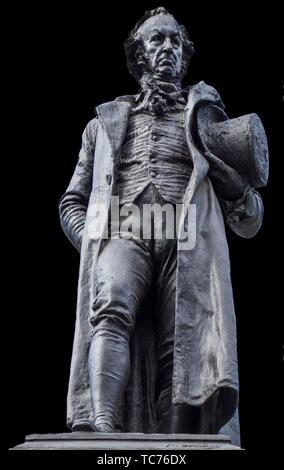 Madrid, Spain - Sept 12th, 2018: Bronze statue of Francisco de Goya, beside the Prado Museum, Madrid, Spain. - Stock Photo