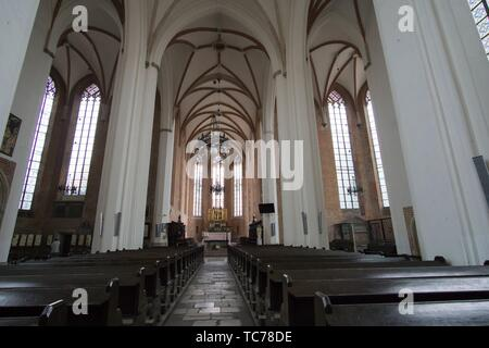 WROCLAW POLAND ON SEPTEMBER 27, 2018: St. John of Nepomuk church interior in Wroclaw Poland. - Stock Photo