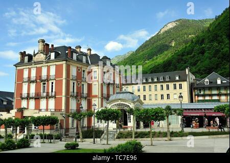 Cauterets town, Hautes-Pyrénées department , Occitanie region, France. - Stock Photo