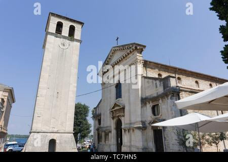 The cathedral in Pula in Istria Croatia. - Stock Photo
