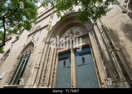 Exterior view of the Lonja de la Seda in Valencia, Spain. - Stock Photo