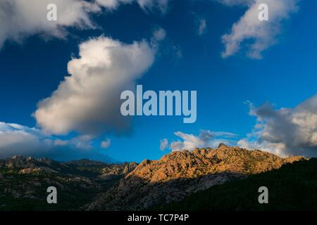 El Yelmo, La Pedriza de Manzanares, Sierra de Guadarrama National Park, Manzanares el Real, Madrid, Spain, Europe. - Stock Photo