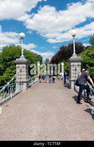 Bridge over Lagoon in the Boston Public Garden