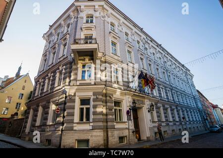 Post Office, Tallinn, Estonia, Baltic States. - Stock Photo
