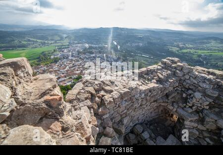 Jimena de la Frontera town, Cadiz, Spain. View from castle tower. - Stock Photo