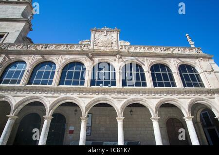 San Clemente town in Cuenca Castile La Mancha Spain: The old town hall. - Stock Photo