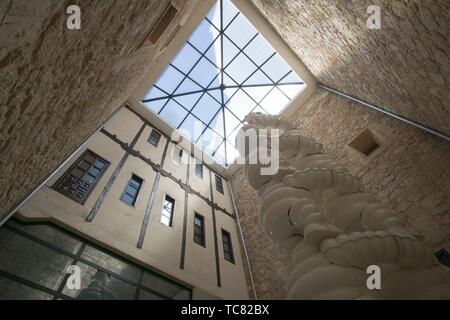 San Clemente town in Cuenca Castile La Mancha Spain. The old town hall now a museum. Interior. - Stock Photo
