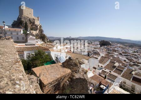 Olvera is one of the most beautiful villages in Spain, Andalusia Spain. - Stock Photo