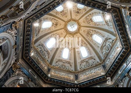 Dome of the Art History Museum (Kunsthistorischen Museum) Cafe, Vienna. - Stock Photo