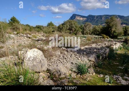recinto pretalayótico, Son Ferrandell-Son Oleza, I milenio a C. , Valldemossa, Mallorca, Balearic islands, spain. - Stock Photo