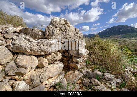 Talaiot, Son Ferrandell-Son Oleza, I milenio a C. , Valldemossa, Mallorca, Balearic islands, spain. - Stock Photo