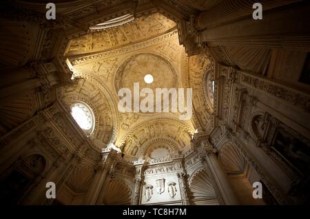Vault in Cathedral of Seville, Andalucia, Spain. - Stock Photo
