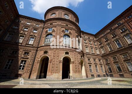 Carignano Palace in Turin, Italy. - Stock Photo