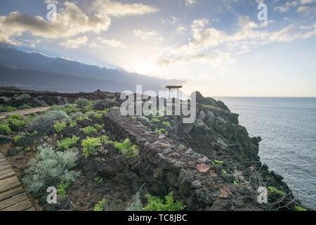 Mirador Playa del Rio Viewpoint Las Puntas La Frontera El Hierro island Canary islands Spain. Stock Photo