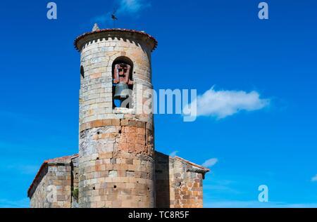 Colegiata de San Martin de Elines, San Martin de Elines, Valderredible Municipality, Comarca Campoo Los Valles, Cantabria, Spain, Europe. - Stock Photo