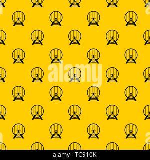 Beer barrel in pub pattern vector - Stock Photo