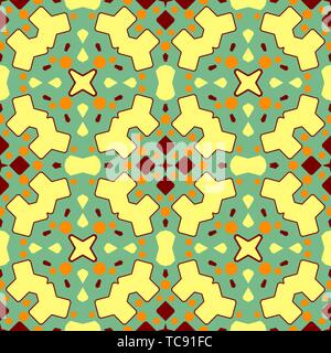 Ceramic tile texture. Gorgeous seamless patchwork pattern from colorful ornaments for ceramic tiles,  pattern fills, gift background,surface textures. - Stock Photo