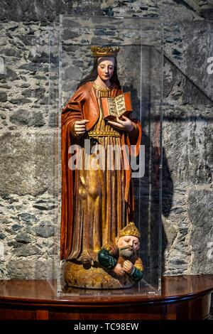 Statue in the Diocesan Museum of Sacred Art, Cathedral of Santa Ana, Canary Islands. - Stock Photo