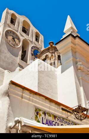 Chiesa di Santa Sofia, Santa Sofia Church, Anacapri, Capri island, Campania region, Tyrrhenian Sea, Italy, Europe. - Stock Photo