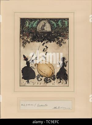 Cinderella. Rackham, Arthur, 1867-1939 (Artist). Twenty-two original drawings. Date Created: 1919. Drawing, British. Drawings. Still image. - Stock Photo