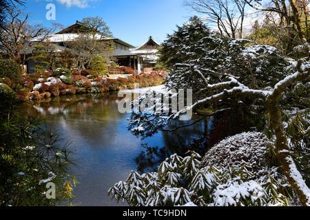 Shoyo-en garden, Rinno-ji temple, Nikko, Tochigi Prefecture, Japan, Asia. - Stock Photo