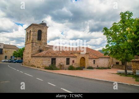 Church. Piñuecar, Madrid province, Spain. - Stock Photo