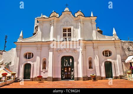 Chiesa di Santa Sofia, Santa Sofia Church, Anacapri, Capri island, Campania region, Tyrrhenian Sea, Italy, Europe. - Stock Photo