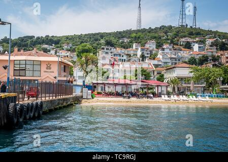 """TURKEY â. """"ISTANBUL,20 MAY 2017: View of Kinaliada island from the sea. The island is one of four islands named Princes Islands in the Sea of - Stock Photo"""