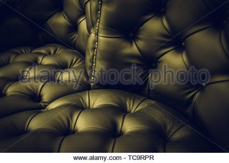 Bright leather detail, detail of animal skin on a seat. - Stock Photo