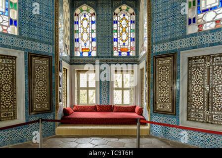 Revan kiosk locates at Topkapi Palace, a large museum destination,in Istanbul,Turkey. 11 April 2018. - Stock Photo