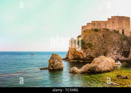 Fort Lovrijenac at the Old Town of Dubrovnik is one of Croatia's famous fortresses. - Stock Photo