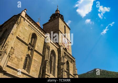 Facade of the Black Church in summer. - Stock Photo
