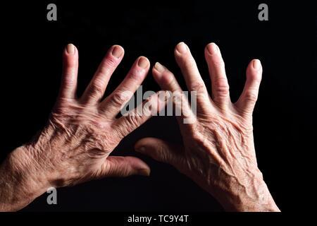 hands of elderly woman. - Stock Photo