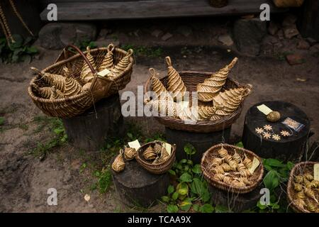 Traditional crafts. Latvian Ethnographic Open-Air Museum. Riga, Latvia, Baltic States, Europe. - Stock Photo