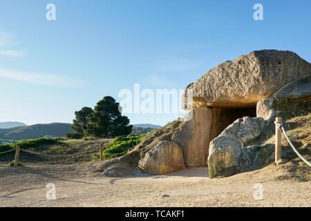 Dolmen of Menga in Antequera, Malaga. Spain. - Stock Photo