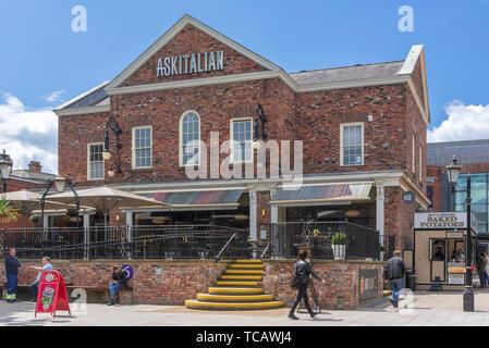 Askitakian restaurant in the Golden Sqaure. Warrington. - Stock Photo