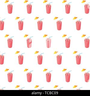 juices fruits cocktails with straws pattern vector illustration design - Stock Photo