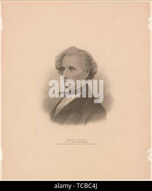 Charles Durang, actor, author and manager Additional title: Portrait engraving, 18-. McKee, Thomas Jefferson, 1840-1899 (Collector). Prints depicting - Stock Photo