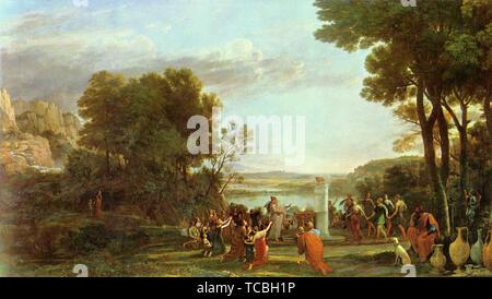 Claude Lorrain (Gellée) - Landscape With Adoration Golden Calf 1653 - Stock Photo