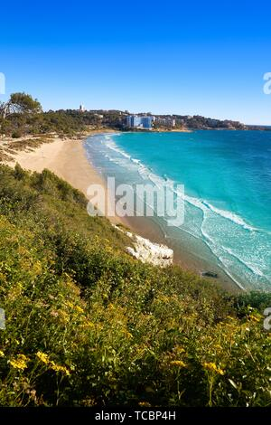 Platja Llarga Salou beach in Tarragona of Catalonia. - Stock Photo