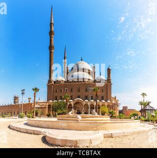 The Great Mosque of Muhammad Ali Pasha or Alabaster Mosque in Cairo. - Stock Photo