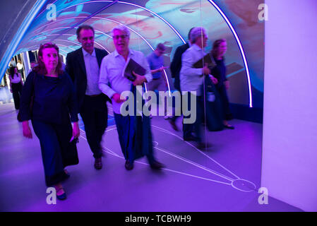 Turin, Piedmont, Italy. 6th June, 2019. Turin, Italy-June 6, 2019: Celebrations for the 100th anniversary of Aurora Penne, an Italian pen factory Credit: Stefano Guidi/ZUMA Wire/Alamy Live News - Stock Photo