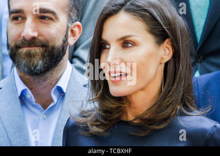 Madrid, Spain. 06th June, 2019. Queen Letiiza attends the Annual Meeting of the Board of the Student Residence at the Student Residence in Madrid, Spain on the 6th of June of 2019. June06, 2019. Credit: Jimmy Olsen/Media Punch ***No Spain***/Alamy Live News - Stock Photo