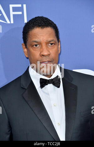 Los Angeles, USA. 6th June, 2019. LOS ANGELES, USA. : Denzel Washington at the AFI Life Achievement Award Gala. Picture Credit: Paul Smith/Alamy Live News - Stock Photo