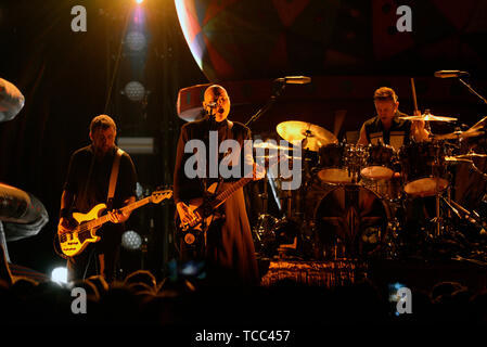 Prague, Czech Republic. 06th June, 2019. American band The Smashing Pumpkins performs in Prague, Czech Republic, on June 6, 2019. On the center of the photo is seen guitarist and singer of the band Billy Corgan. Credit: Katerina Sulova/CTK Photo/Alamy Live News - Stock Photo