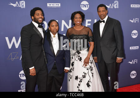 Los Angeles, USA. 06th June, 2019. Malcolm Washington, Katia Washington, Pauletta Washington, and Denzel Washington 083 attends the American Film Institute's 47th Life Achievement Award Gala Tribute To Denzel Washington at Dolby Theatre on June 6, 2019 in Hollywood, California Credit: Tsuni/USA/Alamy Live News - Stock Photo