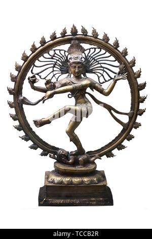 Shiva Nataraja Shiva Nataraja figurine. Indian Lord of Dance. Isolated. - Stock Photo
