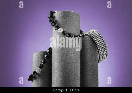 Composition of three bracelets. Studio still life image. - Stock Photo