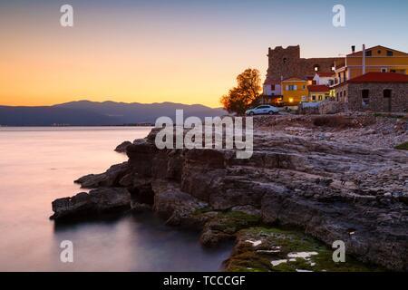 Castle in Pythagorio town on Samos island, Greece.. - Stock Photo